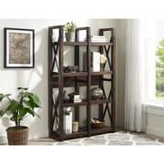 Altra Wildwood Wood Veneer Bookcase/Room Divider, Mahogany (9631196COM)
