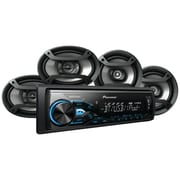 Pioneer Mxt-x3869bt Single-din In-dash Digital Media Receiver With Bluetooth & 2 Pairs Of Speakers