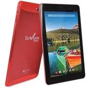 """Refurbished Envizen EVT10Q-16G-RED-R 10.1"""" Tablet 16GB Android 4.4 KitKat Red"""