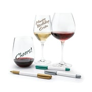 Wine Enthusiast 9471101 Wine Glass Writer Metallic Pens, 3 Pk