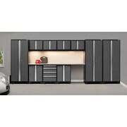 NewAge Products Pro 3.0 Series, 12-Piece Garage Cabinet Corner Set, Stainless Steel Worktop, Gray (50085)