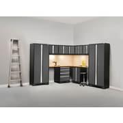 NewAge Products Pro 3.0 Series, 12-Piece Garage Cabinet Corner Set, Stainless Steel Worktop, Gray (50064)