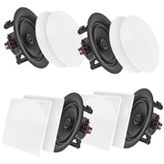 """Pyle Home Pdicbt286 8"""" Bluetooth Ceiling/wall Speakers, 4 Pk"""