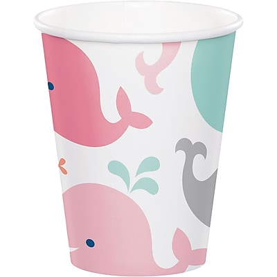 Creative Converting Pink Baby Whale Cups 8 pk (322201) 2677322
