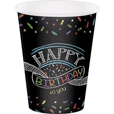 Creative Converting Chalk Birthday Cups 8 pk (375971) 2677100