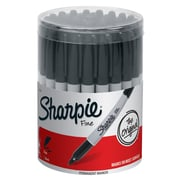 Sharpie Fine Point Permanent Marker, Black, Canister of 36 (SAN35010)