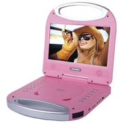 "Sylvania Sdvd1052-pink 10"" Portable Dvd Player With Integrated Handle (pink)"