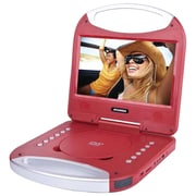 "Sylvania Sdvd1052-red 10"" Portable Dvd Player With Integrated Handle (red)"