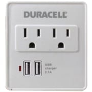Duracell Du6207 2-outlet Surge Protector With 2 Usb Ports (white)