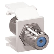 Leviton 41084-fwf Quickport Nickel-plated F-type Adapter (white)