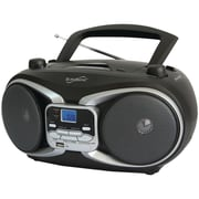 Supersonic Sc-504 Silver Portable Mp3 & Cd Player With Am/fm Radio (silver)