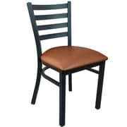 Advantage Ladder Back Restaurant Chair - Mocha Padded (RCLB-BFMV-2)
