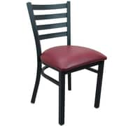 Advantage Ladder Back Restaurant Chair - Burgundy Padded (RCLB-BFRV-2)