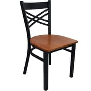 Advantage Cross Back Restaurant Chair - Cherry Wood (RCXB-BFCW-2)