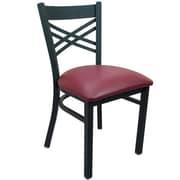 Advantage Cross Back Restaurant Chair - Burgundy Padded (RCXB-BFRV-2)