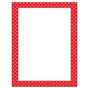 Trend Polka Dots Red Terrific Papers®, 50 shts per pack, bundle of 6 packs (T-11426)