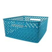 Romanoff Woven Basket, Medium, Turquoise, Set of 3 (ROM74108)