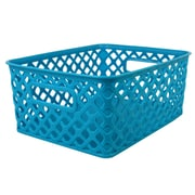 Romanoff Woven Basket, Small, Turquoise, Set of 3 (ROM74008)