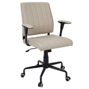 Lumisource Cache Contemporary Faux Leather Office Chair, Beige/Black (OFC-CACH BK+LGY)