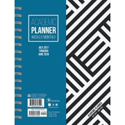 Tf Publishing 2018 Academic Year Black & White Medium Weekly Monthly Planner (18-9216A)