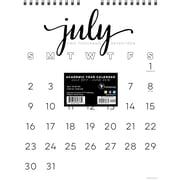Tf Publishing 2018 Academic Year Black & White Script Monthly Wall Calendar (18-6216A)