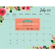 Tf Publishing 2018 Academic Year Floral Desk Blotter (18-8041A)