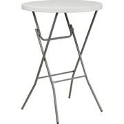 "Advantage 32"" Round Bar Height Folding Table - White Granite Cafe Table  (ADV32RBARWHITE5)"