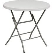 "Advantage 32"" Round Folding Table - White Granite Cafe Table  (ADV32RLZWHITE05)"