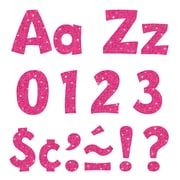 "Trend 4"" Playful Combo Ready Letters®, Hot Pink Sparkle (T-79783)"