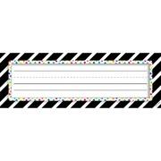"Creative Teaching Press Bold & Bright Bold Stripes & Dots Name Plates, 36 per pack, bundle of 6 packs, 9 1/2"" x 3 1/4"" (CTP4299)"