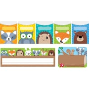"""Creative Teaching Press Woodland Friends Name Plate/Label/Pockets Combo Set, 107 ct, 9 1/2"""" x 4 1/4"""" (CTP8938)"""