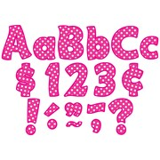 """Teacher Created Resources 4"""" Letters Combo Pack, Hot Pink Polka Dots (TCR5430)"""