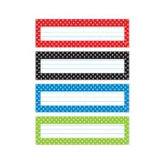 "Trend Polka Dots Desk Toppers® Name Plates Var. Pk., 32 per pack, bundle of 6 packs, 9 1/2"" x 2 7/8"" (T-69951)"