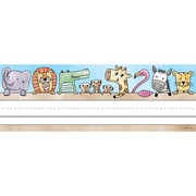 "Creative Teaching Press Safari Friends Name Plates, 36 per pack, bundle of 6 packs, 9 1/2"" x 3 1/4"" (CTP4298)"