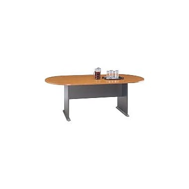 Bush Cubix Racetrack Conference Table, Natural Cherry/Graphite Gray, Fully assembled