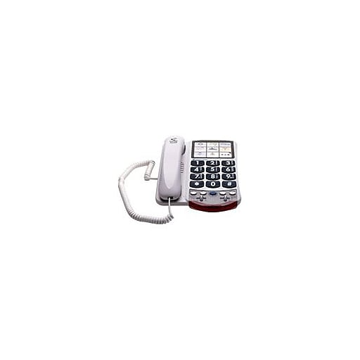 Clarity P300 Amplified Corded Office Telephone White Staples