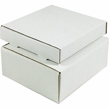 White Corrugated Mailers, 12