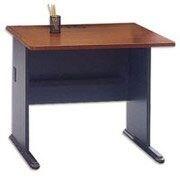 Bush Business Cubix 36W Desk, Hansen Cherry/Galaxy, Installed