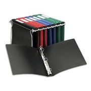 Avery 1-Inch Round 3-Ring Hanging File Binder, Black (14801)