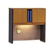 Bush Business Cubix 36W Hutch, Natural Cherry/Slate, Installed