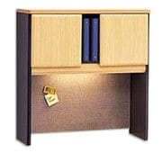 Bush Business Cubix 36W Hutch, Euro Beech/Slate, Installed