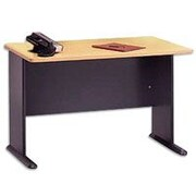 Bush Business Cubix 48W Desk, Euro Beech/Slate, Installed