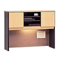 Bush Business Cubix 48W Hutch, Euro Beech/Slate, Installed