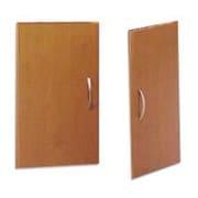 Bush Business Westfield Half-Height 2 Door Kit, Natural Cherry/Graphite Gray, Installed