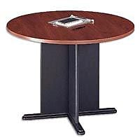 Bush Business Westfield 42W Round Conference Table, Hansen Cherry/Graphite Gray