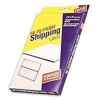 Staples Packing Labels,