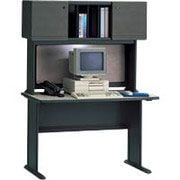 Bush Business Cubix 48W Desk, Slate/White Spectrum, Installed