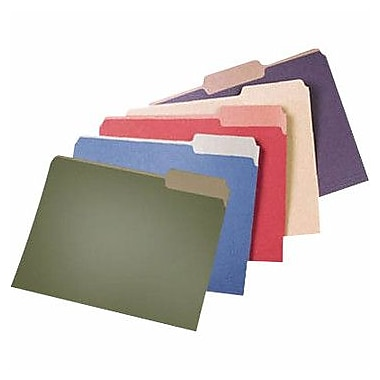 Pendaflex Earthwise 100% Recycled Colored File Folders, 3 Tab Positions, Letter Size, Natural, 100/Box (4342)
