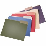 Pendaflex® Earthwise® Recycled Color File Folders, 3 Tab Positions, Letter Size, Red, 100/Box (4311)