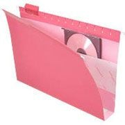 "Pendaflex® Box-Bottom Colored Hanging Folders, Legal, Red, 2"" Expansion, 25/Box"
